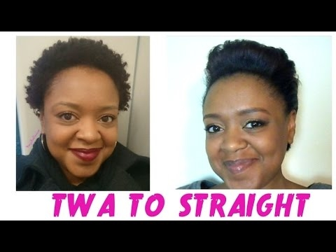 Stylish from coily to straight straightening my short natural hair 8 months natural ft curly nature Styles For Short Straight Natural Hair Ideas